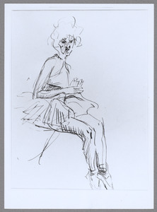 Revue-meisje in Theater Scala