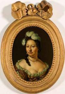 Portret van Magdalena de la Court (1661-1712), echtgenote van Willem Cornelisz. Backer