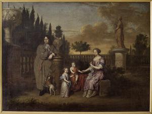 Familieportret van Hendrik Jacob van Tuyll van Serooskerke (1642-1692), zijn echtgenote Anna Elisabeth van Reede (1652-1682) en hun kinderen Trajectina Anna Elisabeth (1675-1720) en Reinout Gerard (1677-1729)