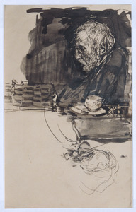 Portret van Jozef Israëls, vader van de kunstenaar