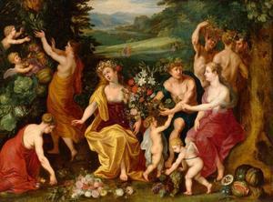 Huldiging aan Flora / Allegorie op de Vruchtbaarheid