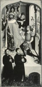 De boodschapper van Abner voor koning David (2 Samuel 3:12) en twee stichtersportretten