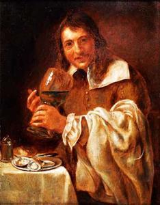 De Smaak: een etende en drinkende man