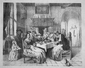 Driekoningenfeest naar een schilderij van Jan Steen
