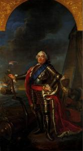 Portret van Willem IV van Oranje-Nassau (1711-1751), met een bediende