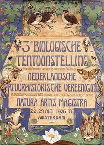 Affiche voor derde biologische tentoonstelling
