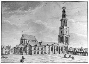 Martinikerk en Martinikerkhof, noordzijde, te Groningen