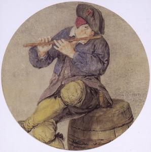 Fluitspelende man (het Gehoor?)