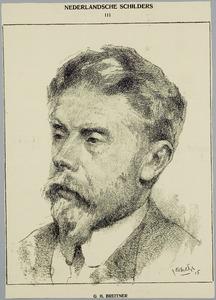 Portret van G.H. Breitner