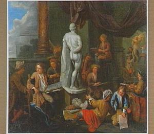 Het atelier van een beeldhouwer