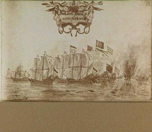 Slag voor Egmond aan Zee tussen de Nederlandse en de Engelse vloot op 8 augustus 1653