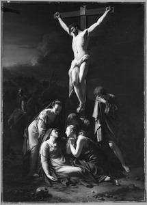 Christus aan het kruis met Maria, bezwijmd aan zijn voeten
