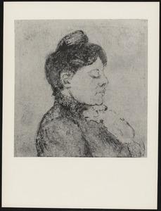 Portret van Agnita Feis en profil
