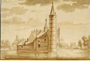 Huis te Heemstede van de achterzijde anno 1727