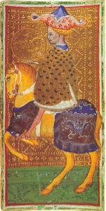 Tarot kaart uit het spel van Visconti: de vos