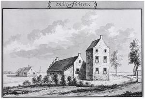 Rechter- en achterzijde van Leijenburg bij Heukelum