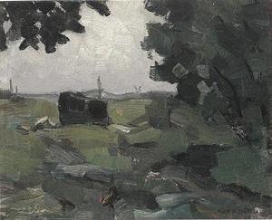 Free impression of a polder landscape