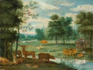 Adam en Eva in de tuin van Eden