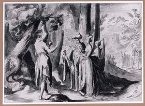 Johannes de Doper berispt Herodes en diens vrouw Herodias