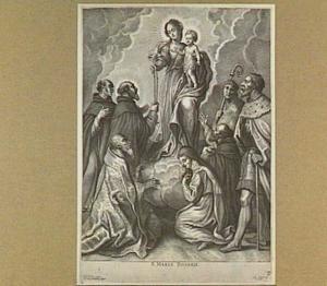 Maria en Kind met rozenkrans