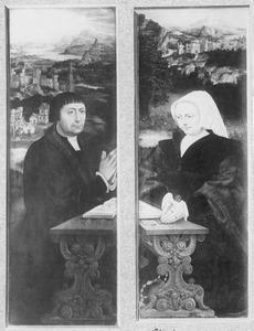 Portret van een stichter (links); Portret van een stichtster (rechts)