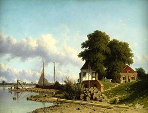 Gezicht op het Oude en Nieuwe Waardhuis bij Elshout