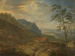 Berglandschap met boerderij