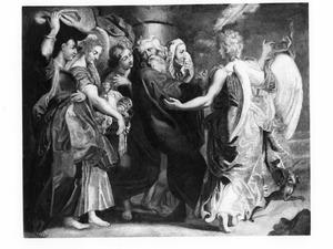 Lot en zijn gezin verlaten Sodom (Genesis 19 : 12-24)