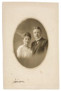 Portret van Harmannus Westerdijk (1888/1889-1945) en Alida Elizabeth Haack (1895/1896-1980)