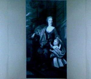 Familieportret van Charlotte Maria Leydecker (1695-1746) en Abraham van Riebeeck (1722-1735)