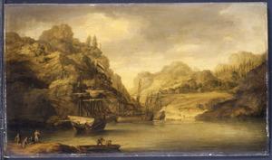 Hollandse schepen in een baai