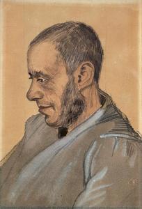 Portret van Jozef Blok (1832-1905)