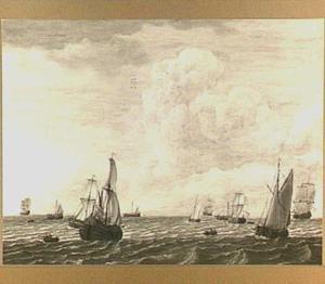 Hollanse schepen op zee