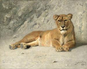 Rustende leeuwin
