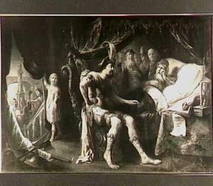 De Romeinse veldheer Pompeius wordt door de zieke filosoof Poseidonios van Rhodos onderricht in de rechtvaardigheid