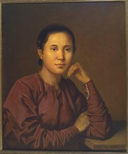 Portret van een Javaanse vrouw