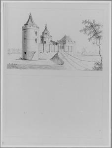 Voor- en achterzijde van het gemoderniseerde kasteel van Abcoude