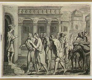 Jozef door zijn broeders herkend (Genesis 45:1-5)
