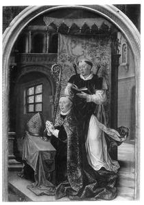 De H. Quintinus van Vermand met een knielende bisschop