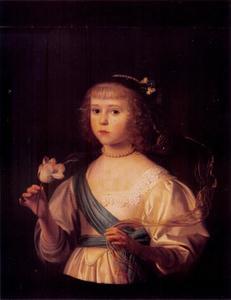 Portret van een meisje, waarschijnlijk Amalia Margaretha von Dhaun (1626-1674)