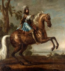 Ruiterportret van koning Karl XI (1655-1697)