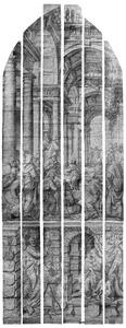 De twaalfjarige Jezus in de tempel (Lucas 2:41-52); Heilige Petrus, Maria met Kind en een schenker