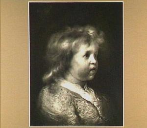 Borststuk van een blond jongetje