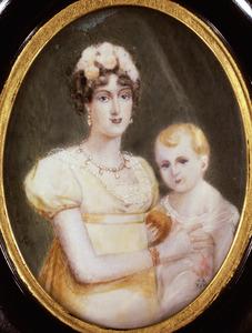 Portret van Marie Louise van Habsburg (1791-1847) en Napoleon François Bonaparte (1811-1832)