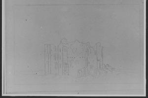 Ruïne van kasteel Brederode, gezien vanuit het zuiden