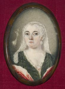 Portret van Geertruijd Lestevenon (1709-1758)