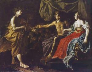 Orfeus speelt voor Pluto en Persephone, de heersers van de onderwereld