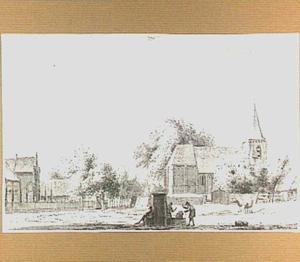 Het dorp Kerkwijk, gezien vanuit het noorden