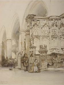 Interieur van de kerk te Leuven