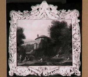 Fantasielandschap met de tempel van Hercules Victor in Rome